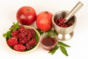 Use of pomegranate in medicine