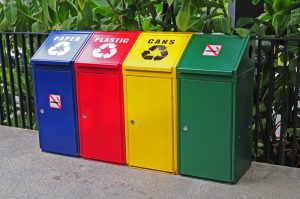 Recycling and waste collection points